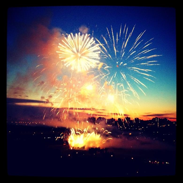 Fireworks over Edmonton