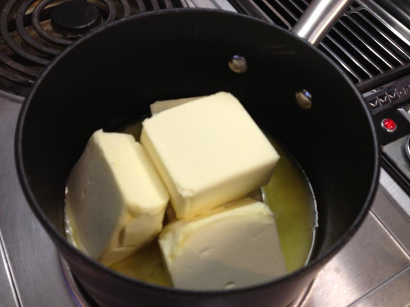 Melting the margarine