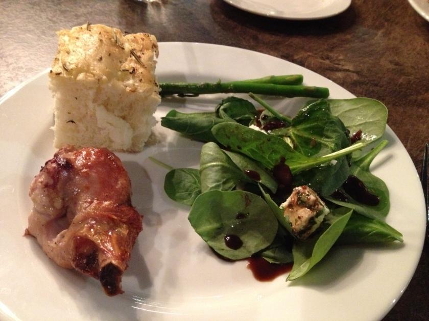 Round 1 - salad bar and chicken