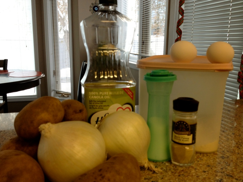 Ingredients for the latkes
