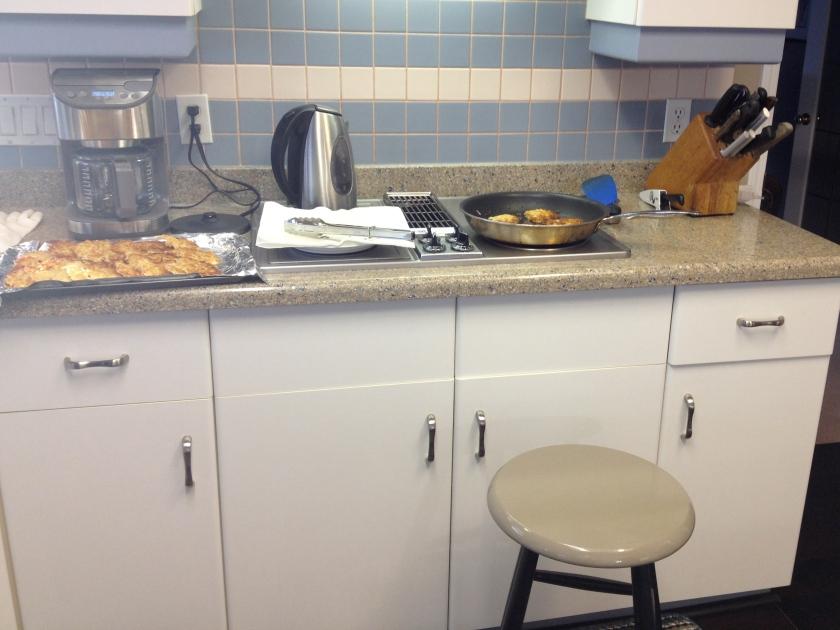 My latke frying station
