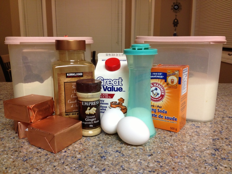 Ingredients for Ginger Cookies