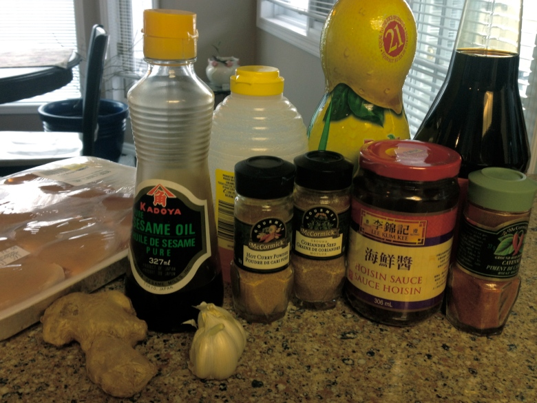 "Honey Garlic ""Wings"" Ingredients"