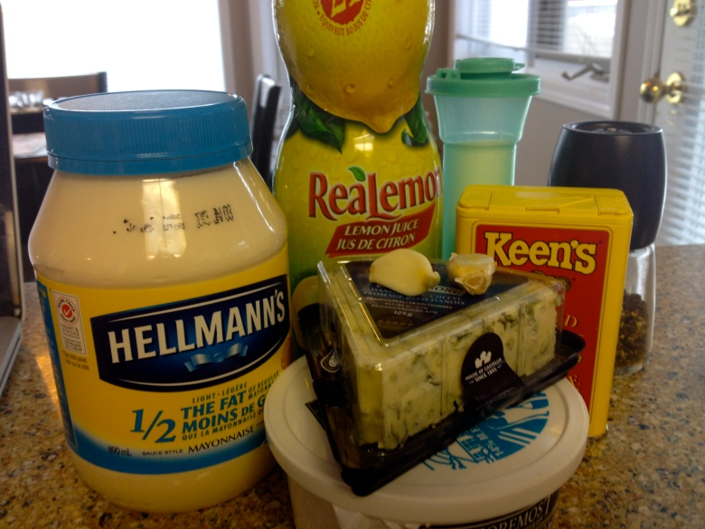 Blue Cheese Dip Ingredients