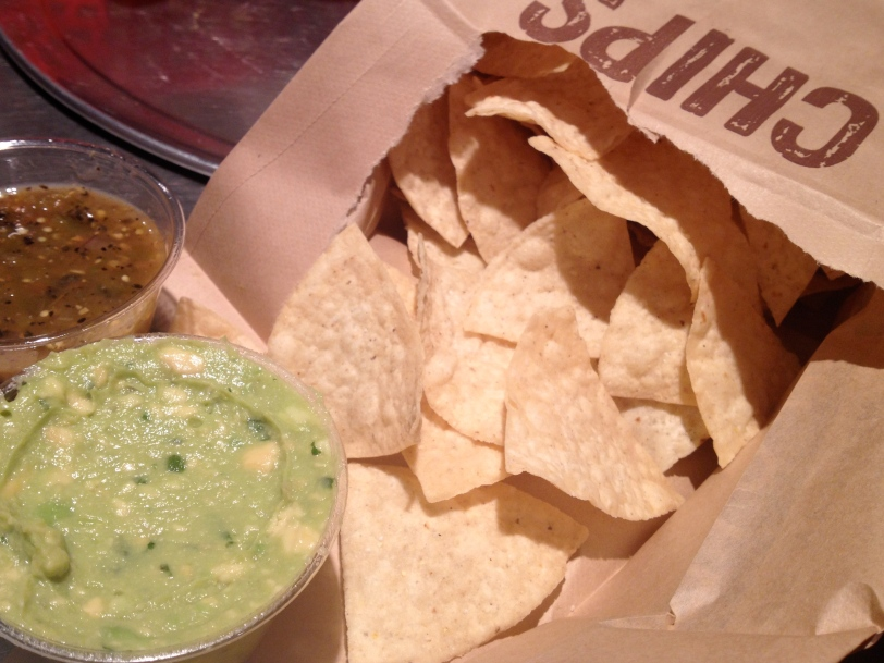 Chips, Guacamole and Salsa Verde