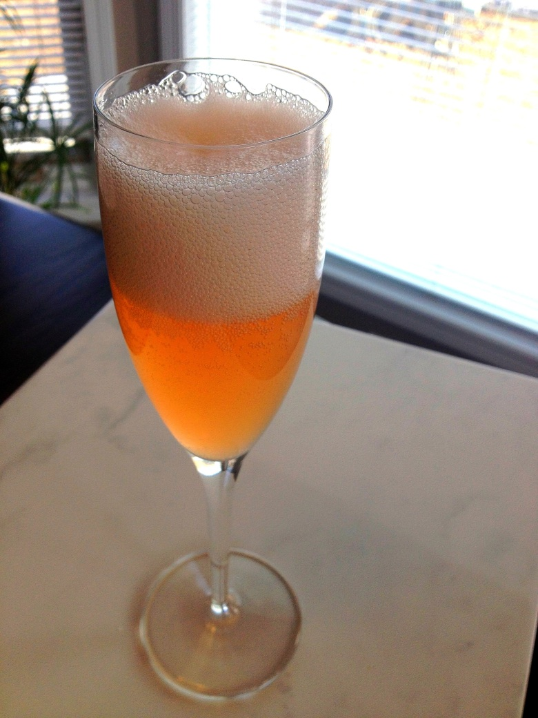 Gin and Honey Champagne Cocktail