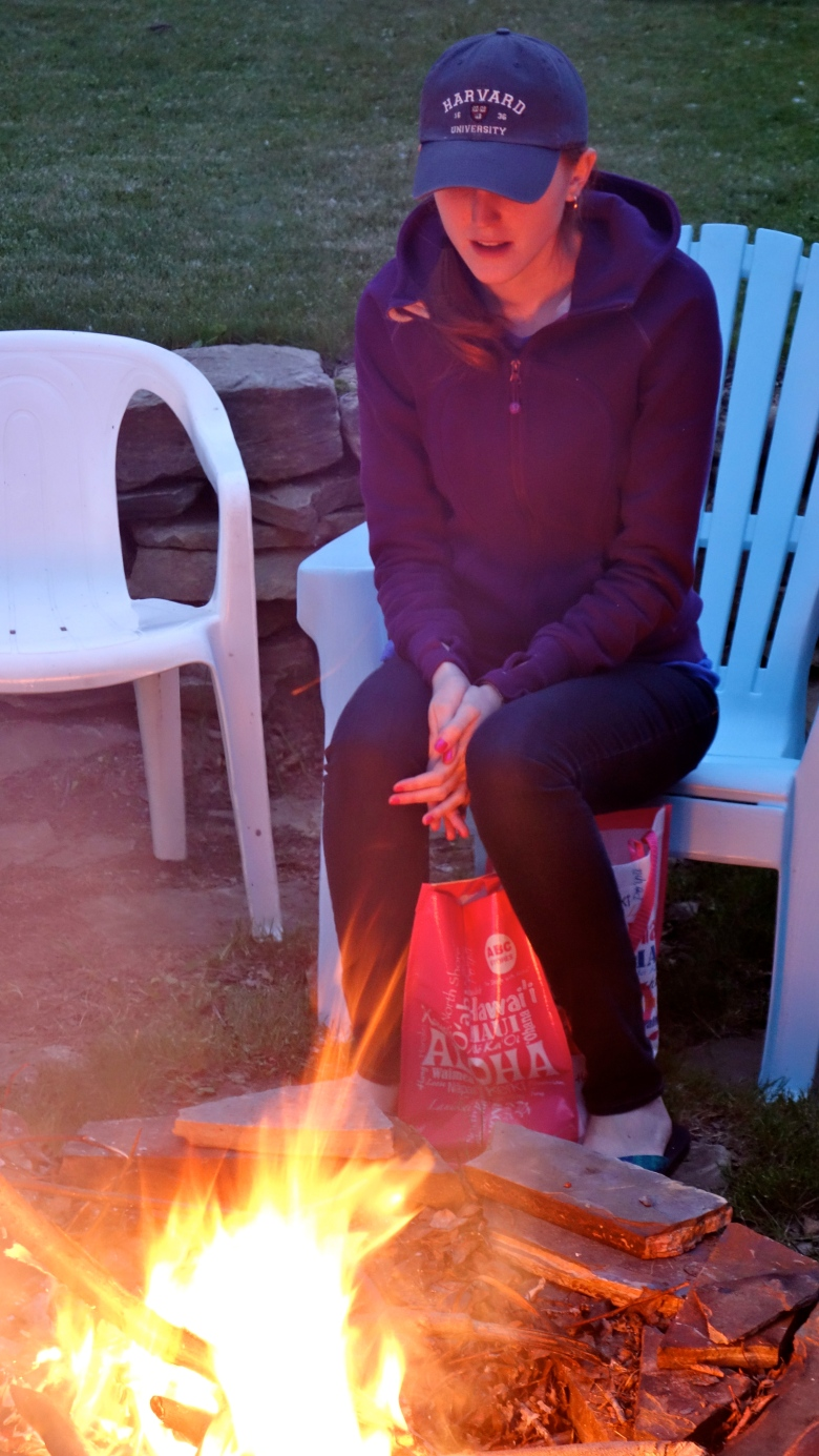 Robyn at the Fire