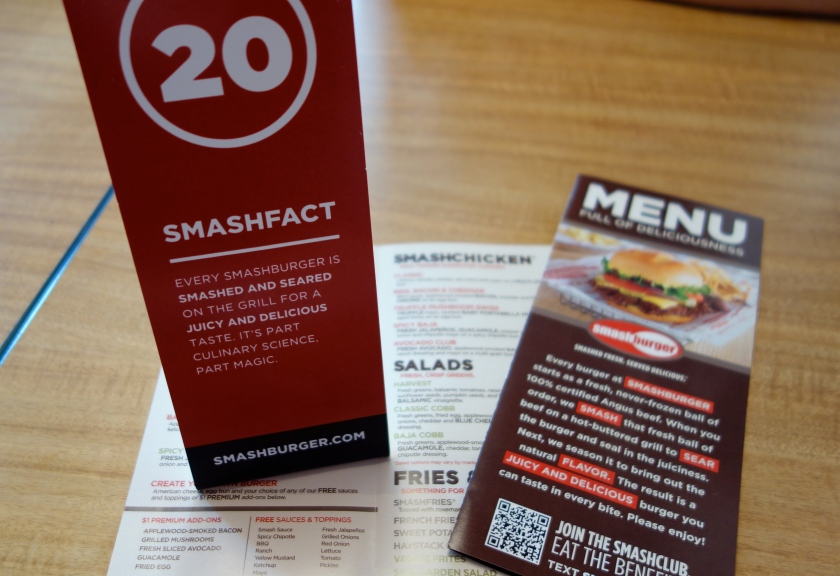 Smashburger Menu