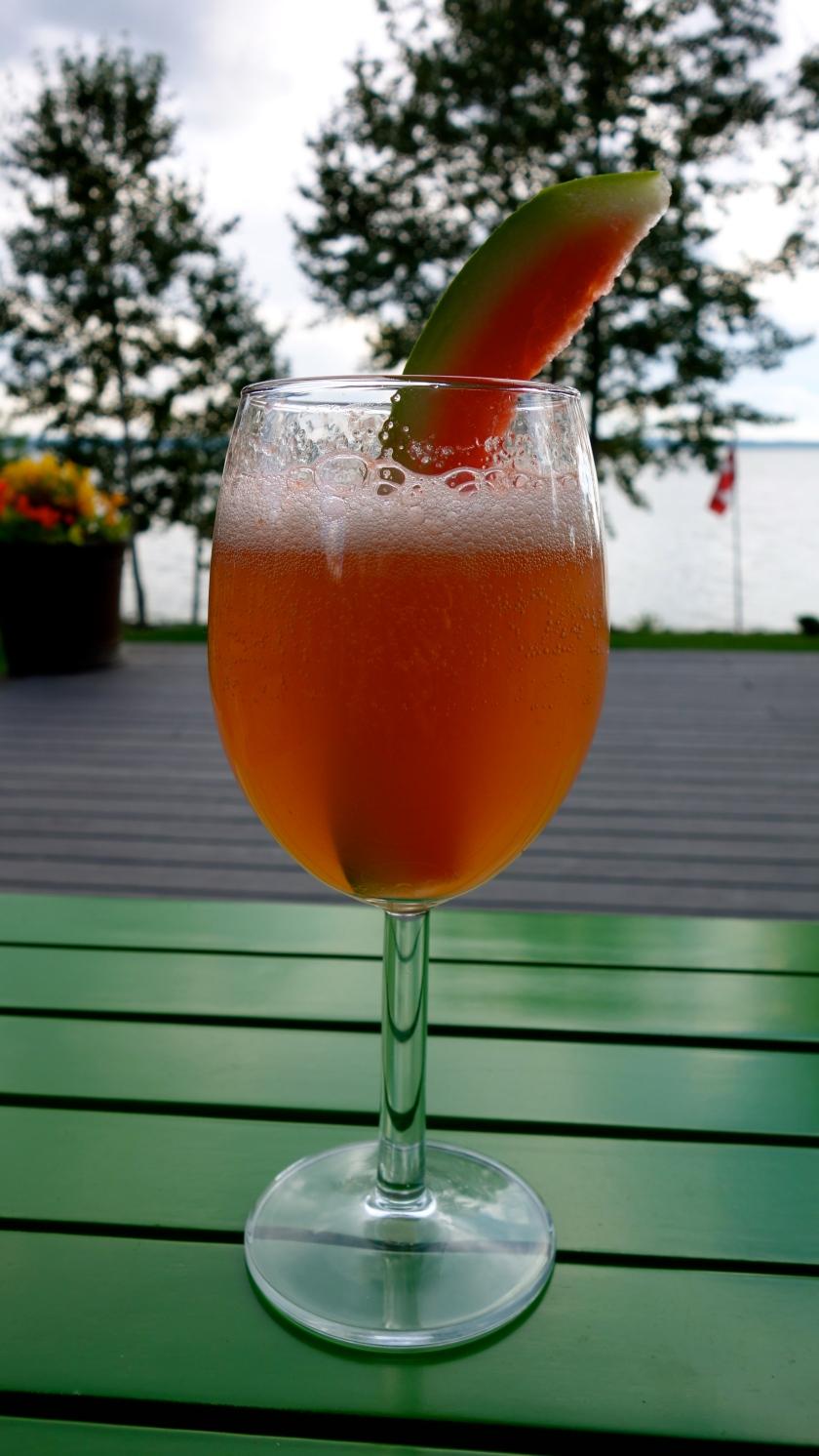 Melon Patch Champagne Cocktail