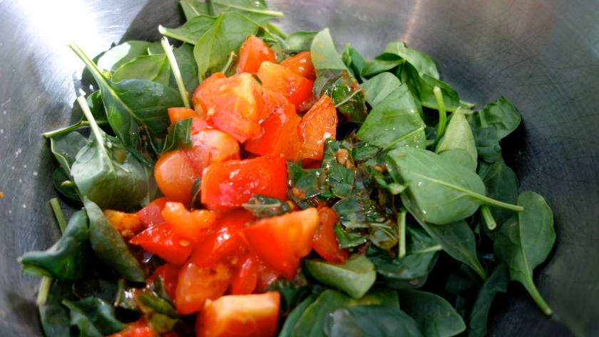 Tomatoes, Basil and Spinach