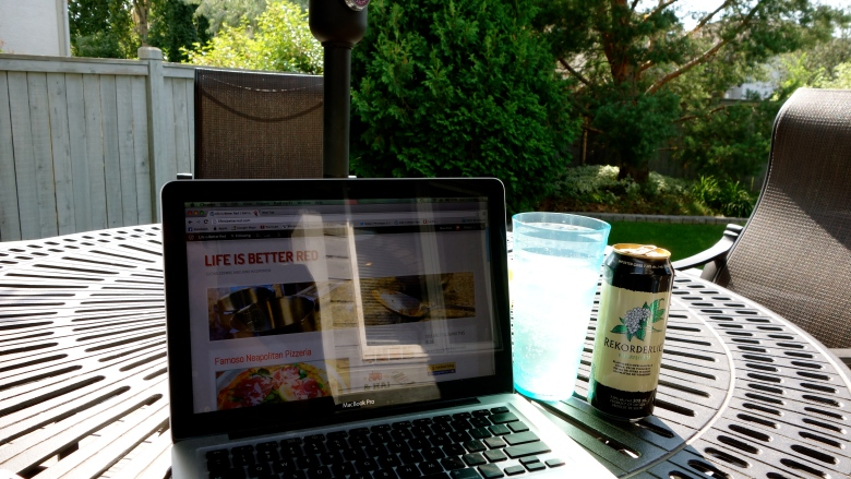 Blogging on the Deck
