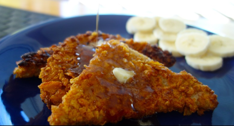 Corn Flake Crusted French Toast
