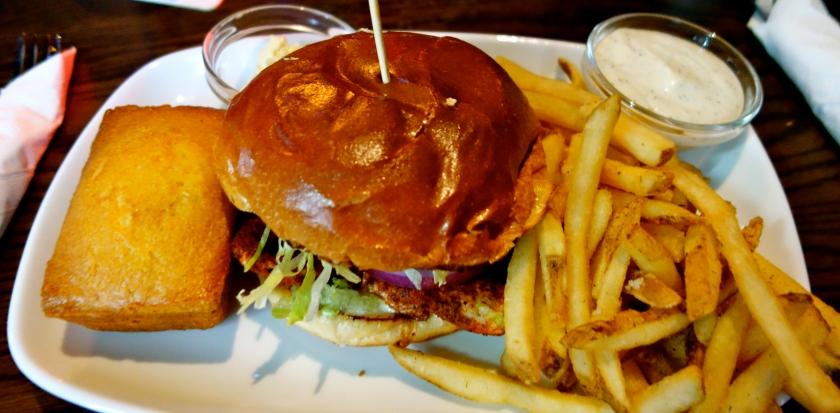 Cajun Chicken Cheddar Burger