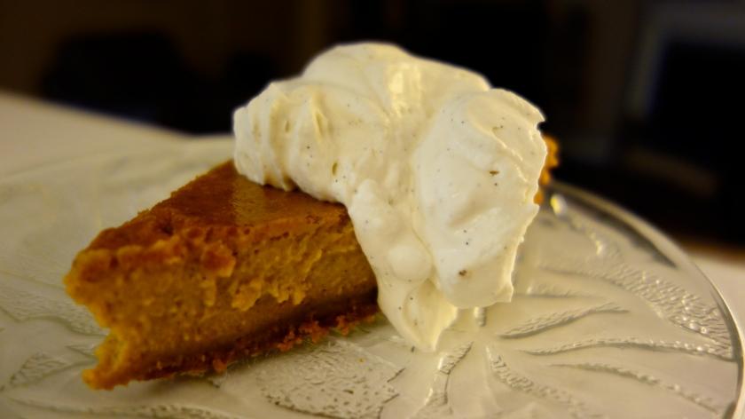 Pumpkin Pie with Maple-Bourbon Whipped Cream