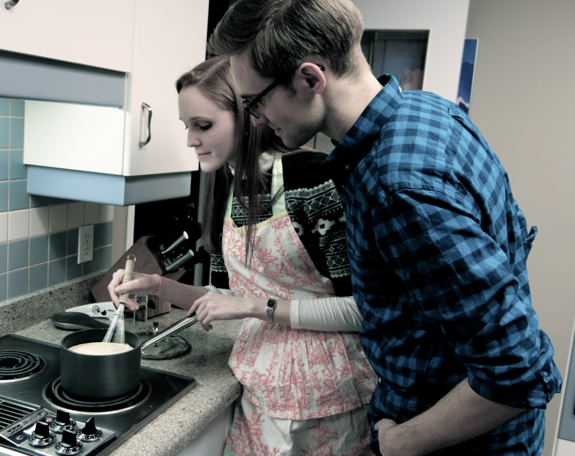 Cooking with my brother