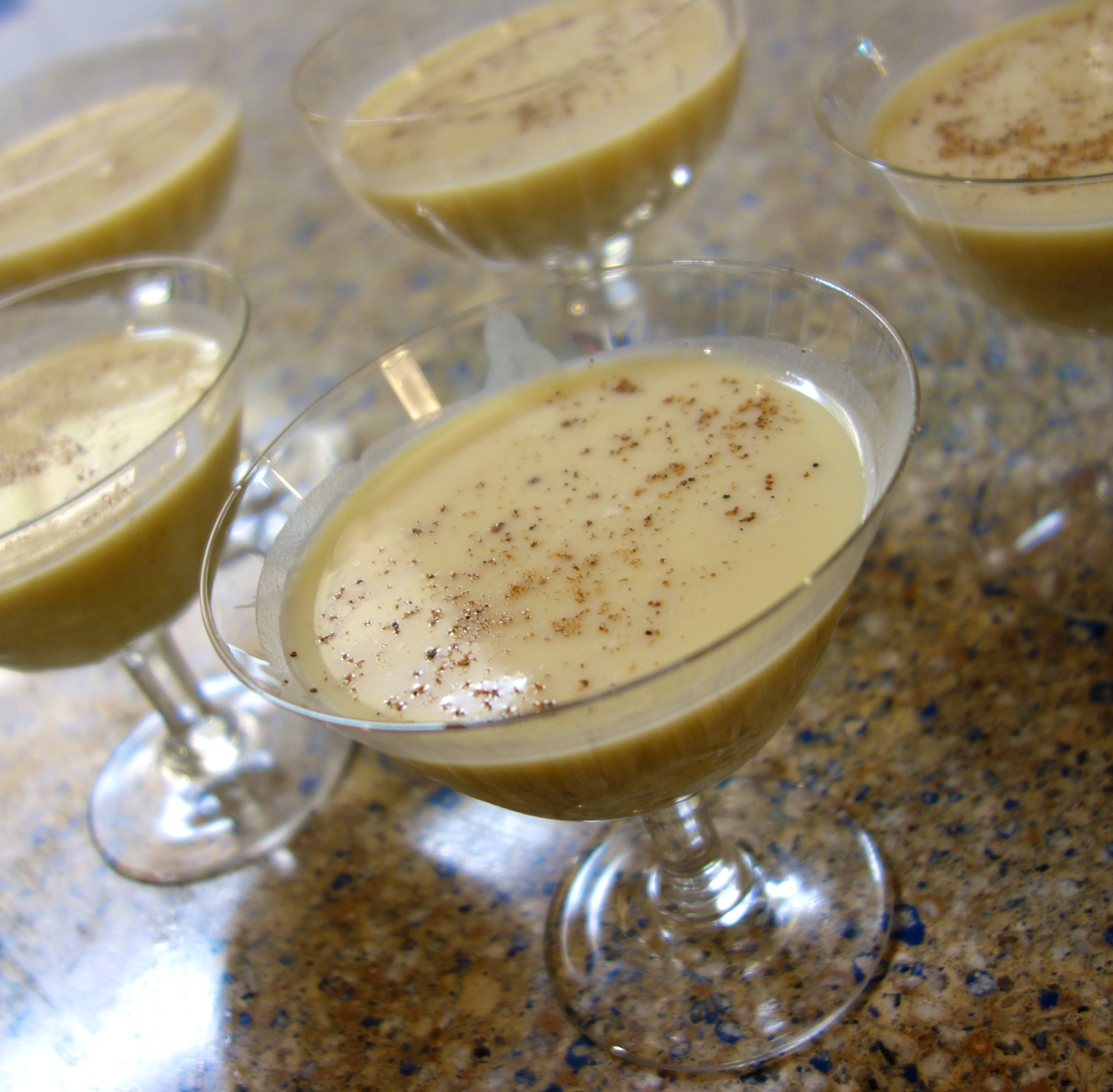 eggnog martini was delicious and it was fun to make our own eggnog ...