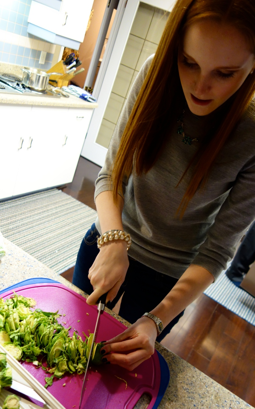 Slicing the Brussels Sprouts
