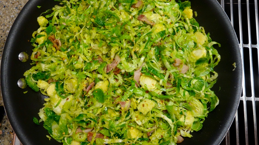 Cooking the Brussels Sprouts