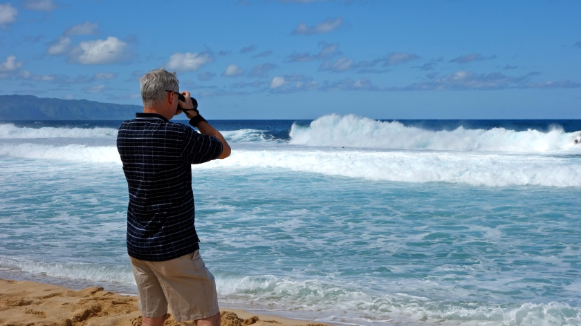 Dad at the Banzai Pipeline