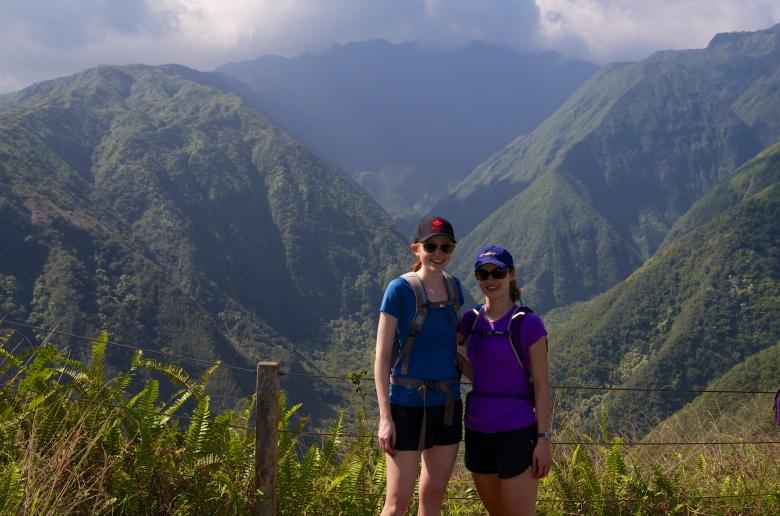 Robyn & Lauren on the Waihee Ridge Trail