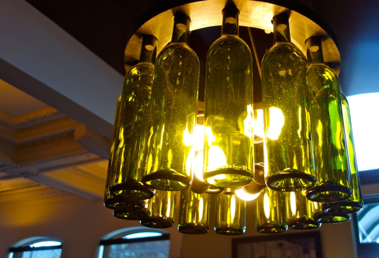 Tavern 1903 Wine Bottle Light Fixture