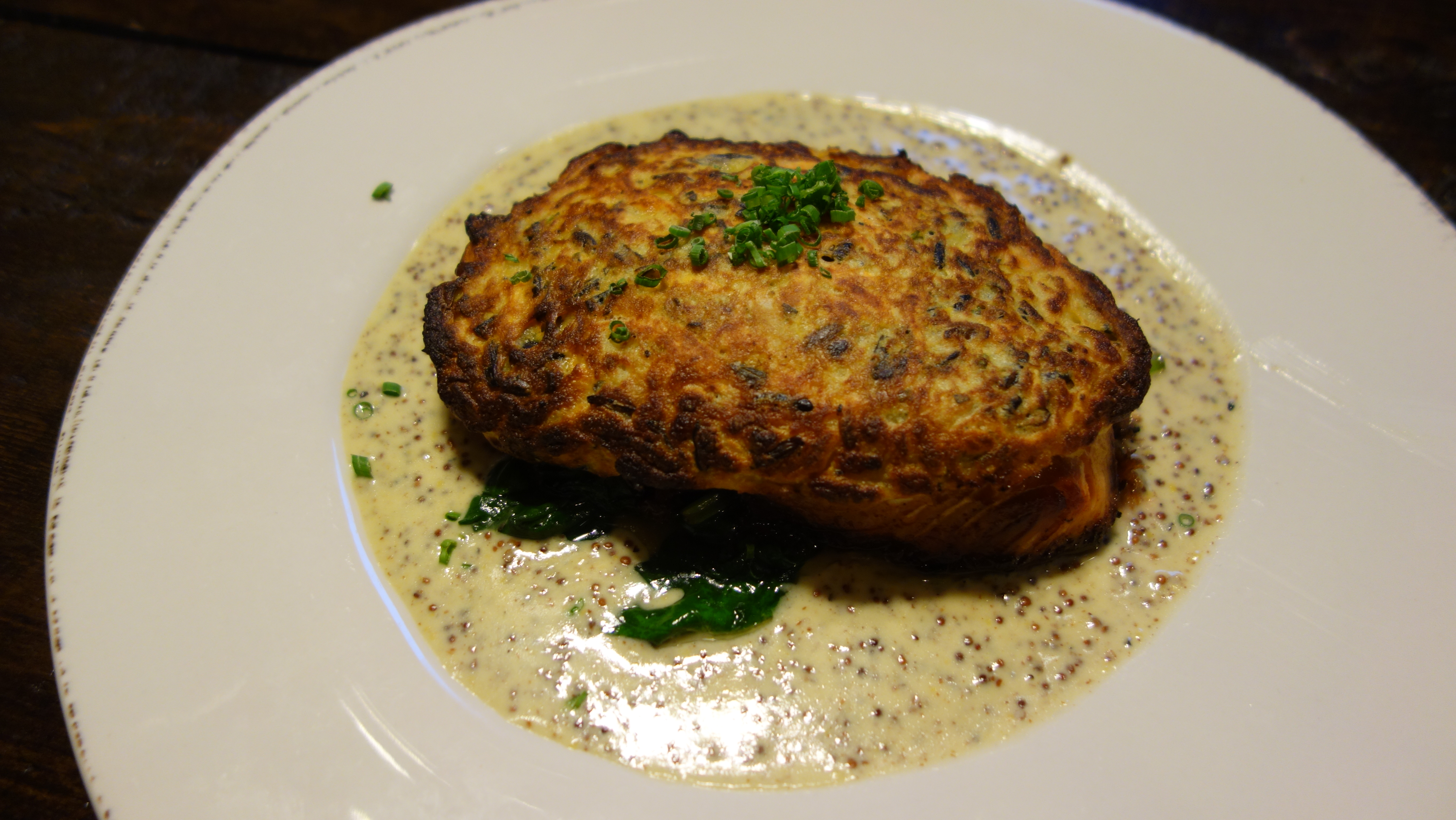 Tavern 1903 life is better red for Potato crusted fish