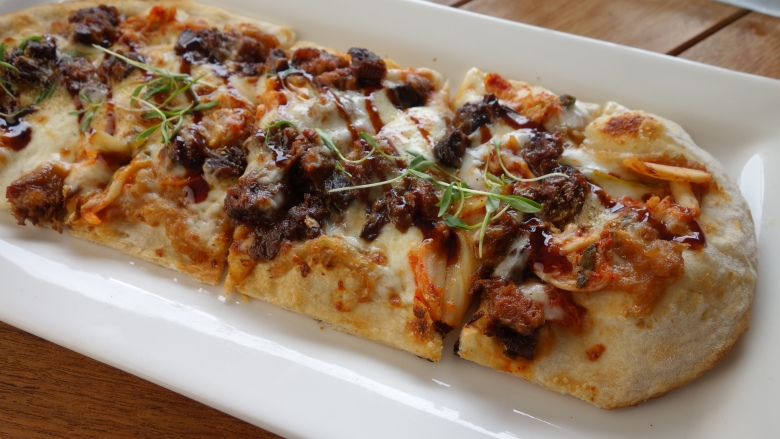 Glazed Pork Bely Flat Bread