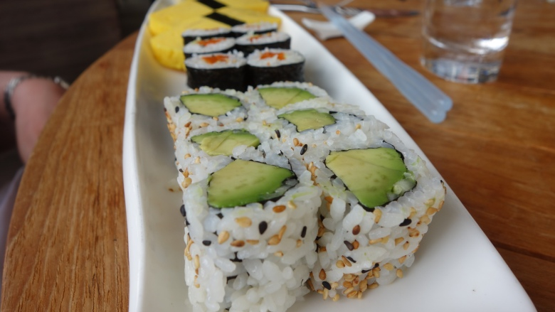 Sweet Gourd and Avocado Maki