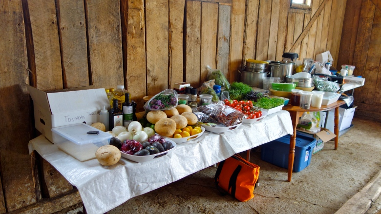 Food Prep in the Barn