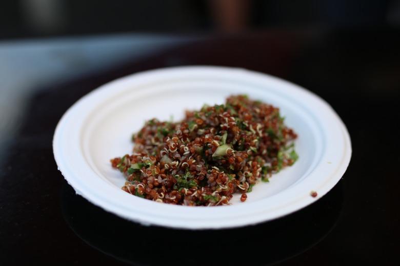 Quinoa, kale, lemon, cucumber and spiced vinagrette