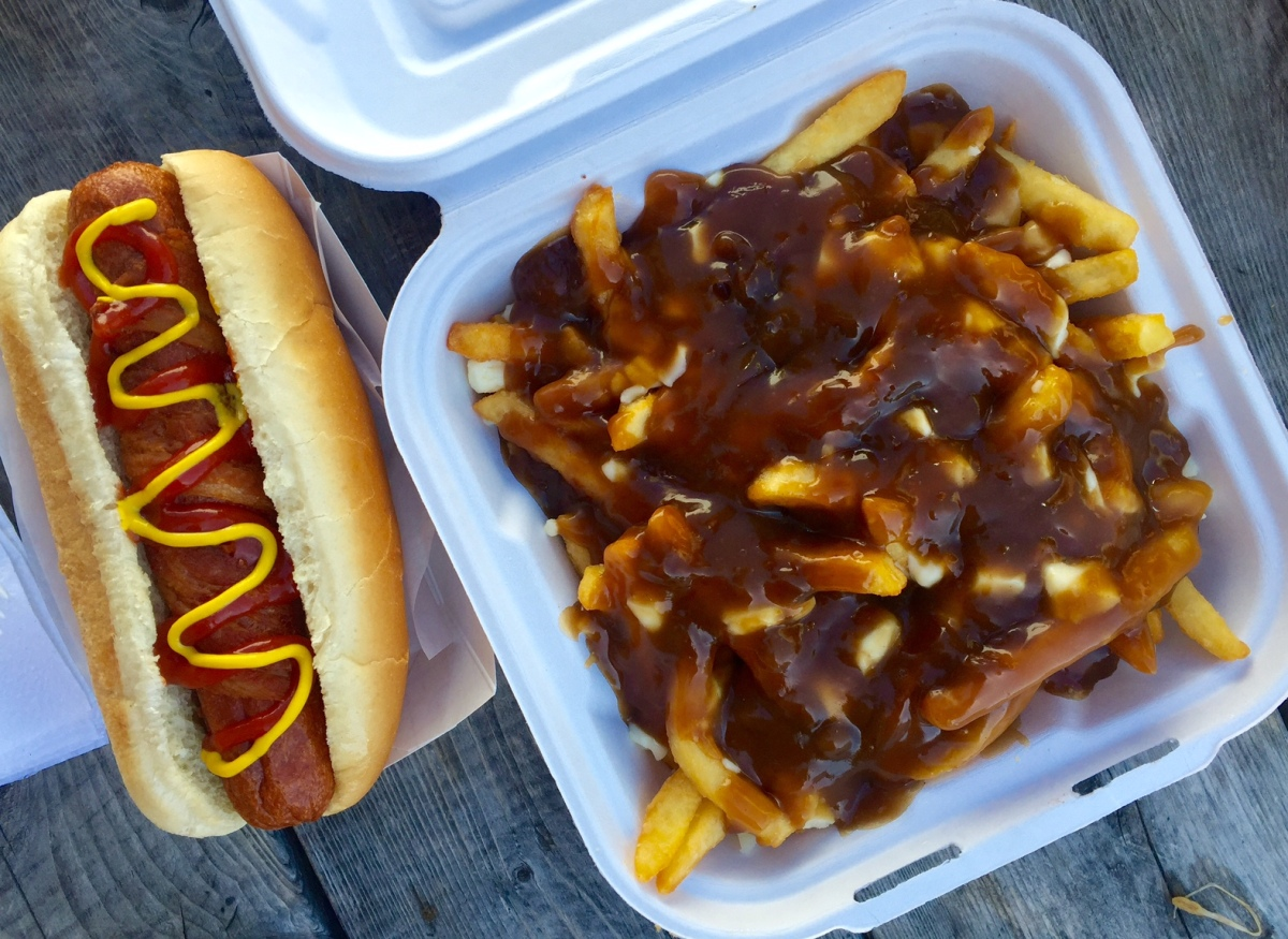Hot Dog and Poutine